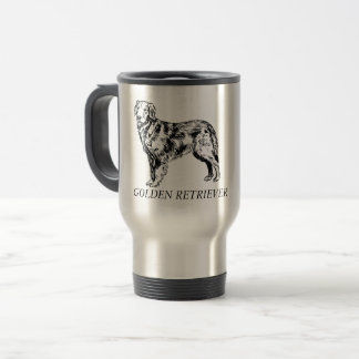 Tasse de voyage de golden retriever