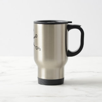 Tasse de voyage de molécule de caféine