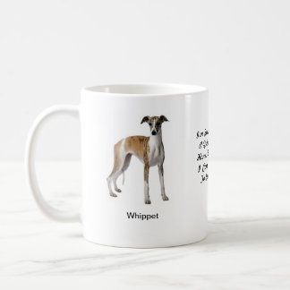 Tasse de whippet - avec deux images et un motif