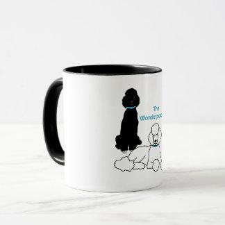 Tasse de Wonderpoodles avec la poignée colorée