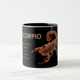 Tasse de zodiaque de Scorpion/scorpion avec des