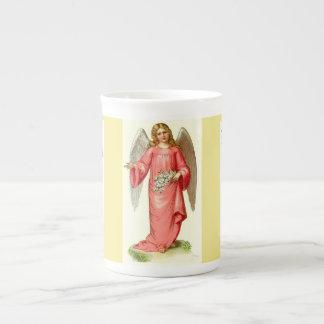 Tasse décorative de porcelaine tendre victorienne
