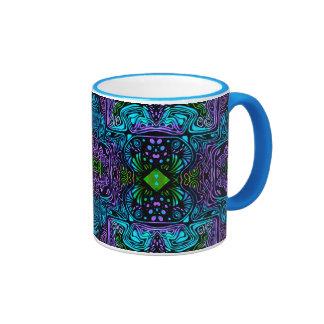 Tasse décorative de sonnerie ; Équilibre bleu