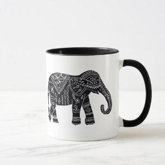 Tasse d'éléphant d'Africain noir