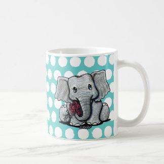 Tasse d'éléphant de KiniArt