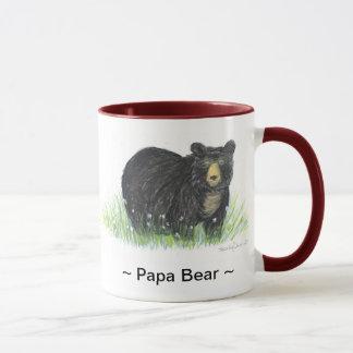 tasse d'équilibre de rouge foncé d'ours noir de ~