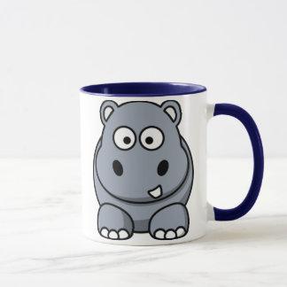 Tasse d'hippopotame de bande dessinée