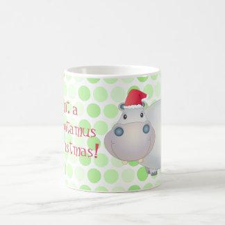 Tasse d'hippopotame de Noël