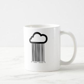 Tasse d'illustration de nuage de code barres