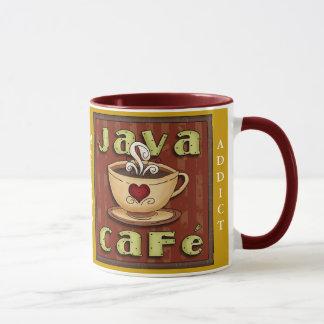 Tasse d'intoxiqué de café