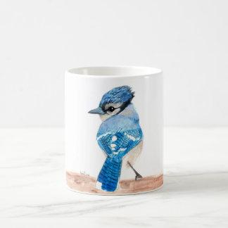 Tasse d'oiseau d'aquarelle : Geai bleu