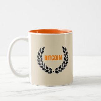 Tasse d'orange de BITCOIN