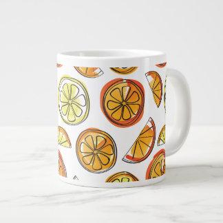 Tasse d'orange et de citron - tasse de fruit