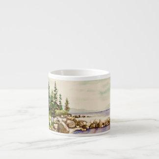 Tasse douce de café express de lac