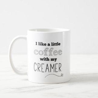 Tasse drôle de citation de crémeuse de café