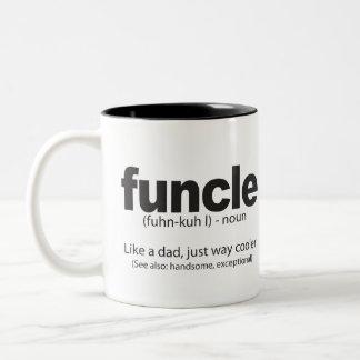 Tasse drôle de citation de définition de Funcle