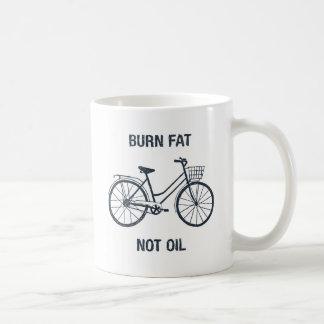 Tasse drôle de déclaration d'huile de graisse de