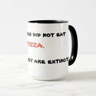 Tasse drôle de pizza