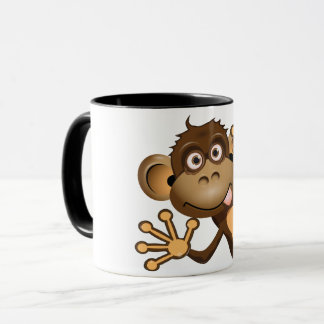 Tasse drôle de singe