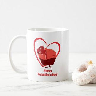 Tasse du caractère | de petit gâteau de Valentine