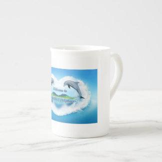 Tasse du dauphin 444ml de bleus layette