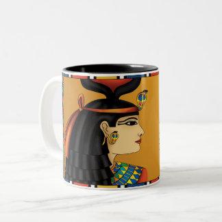 Tasse égyptienne de Hathor de déesse