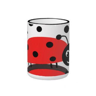 Tasse en céramique de coccinelle