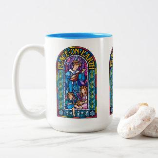 Tasse en céramique de Noël de Pre-Raphaelite de la