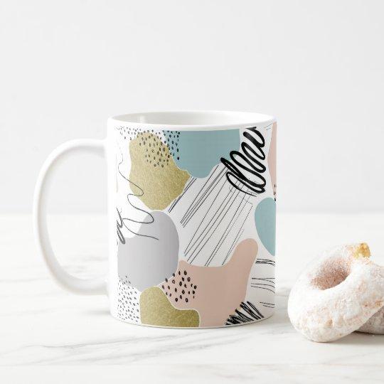 Tasse en pastel abstraite