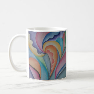 Tasse en pastel abstraite de boisson de jardin