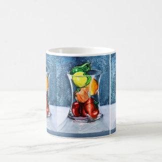 Tasse en verre de fruit