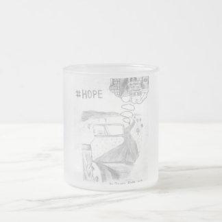 Tasse en verre de #Hope Mug En Verre Givré