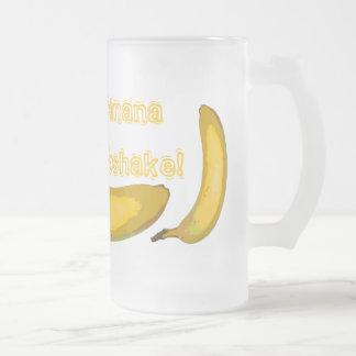 Tasse en verre de milkshake de banane d'art de