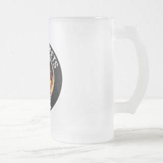 Tasse en verre givré