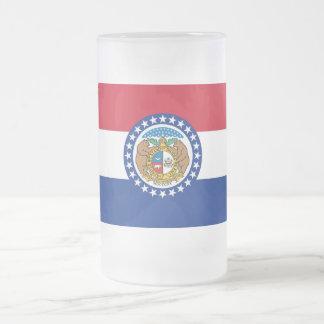 Tasse en verre givré avec le drapeau du Missouri