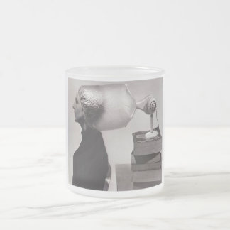Tasse en verre givré - beauté vintage