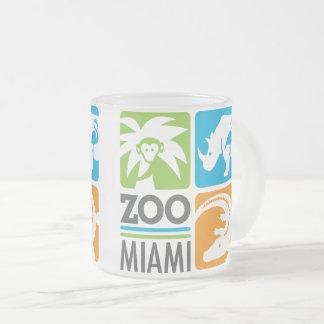 Tasse en verre givré de Miami de zoo