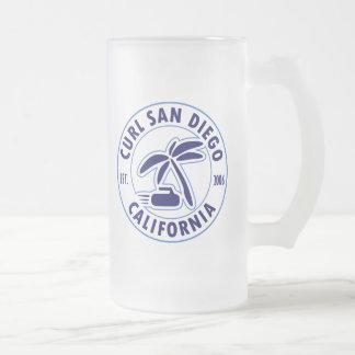 Tasse en verre givré de San Diego de boucle