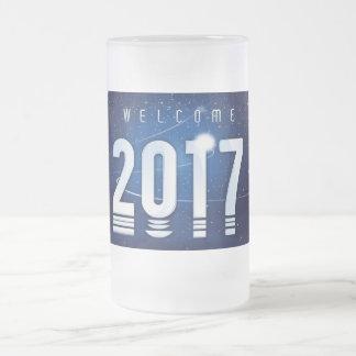 Tasse en verre givré de special de nouvelle année
