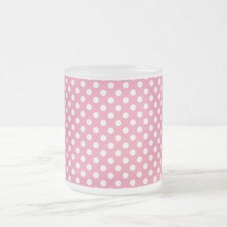 Tasse en verre Polka-Pointillée par rose du jour