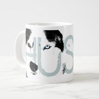 Tasse enrouée de chien de Sleg de chien de traînea Mugs Extra Larges