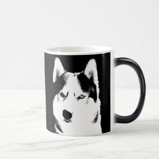 Tasse enrouée de chien de traîneau sibérien de