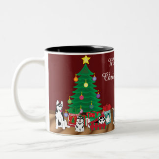 Tasse enrouée de Noël