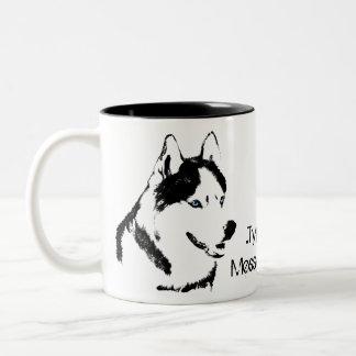 Tasse enrouée personnalisée enrouée de chien de