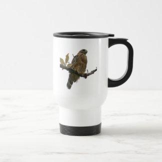 Tasse épaulée rouge de voyageurs de faucon