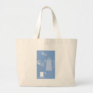 Tasse et pot de café sacs de toile