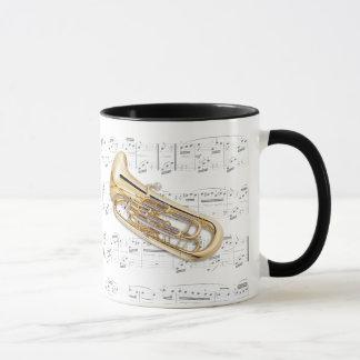 Tasse - euphonium avec la musique de feuille