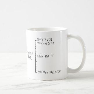 Tasse excentrique de niveau de café