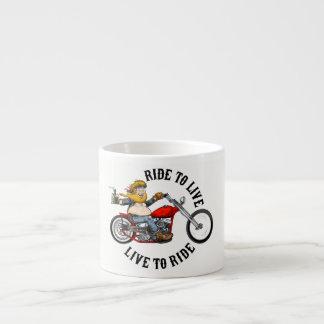 Tasse Expresso biker motard ride to live