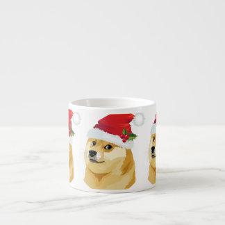 Tasse Expresso Doge de Noël - doge de père Noël - chien de Noël